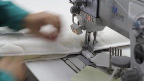 计划操作缝纫机缝合织品,开关,现代工厂,内部 股票录像
