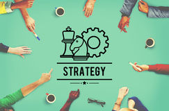 计划方向目标目标棋概念的战略战术 库存照片