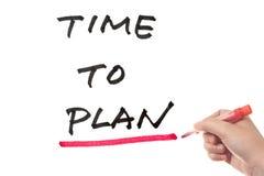 计划时间 免版税库存图片