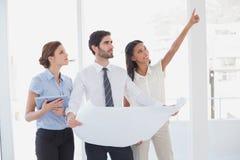 读计划的企业队 免版税库存图片