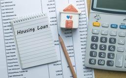 计划的月度住房贷款 免版税库存图片
