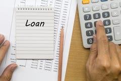 计划的月度贷款偿还 免版税库存照片