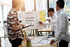 计划的网站设计师创造性的图表会议应用手机 用户经验概念 库存照片