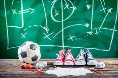 计划的胜利在足球的比赛 库存照片