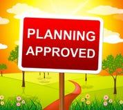 计划的被批准的手段被核实的通行证和目标 库存图片