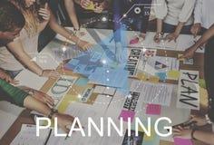 计划的进展讨论战略激发灵感概念 免版税库存图片