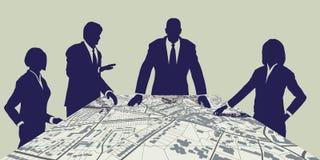计划程序城镇 免版税库存图片