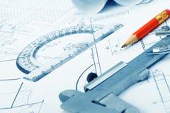 计划行业详细资料 免版税库存图片