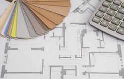 计划计划房子修理和建筑 库存照片