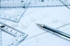 计划进程 免版税库存图片