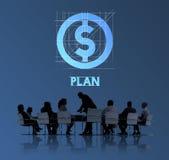 计划金钱财务商人技术图表概念 免版税图库摄影