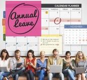 计划年假的日程表做名单概念 库存照片