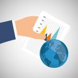 统计在手边,传染媒介设计 免版税库存照片