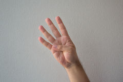 计数与手指 免版税库存图片