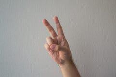 计数与手指 免版税图库摄影