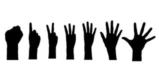 计数五的手指 免版税库存图片