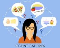 计数卡路里的一种健康生活方式 库存图片