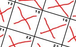 计数在日历的天下 免版税库存图片