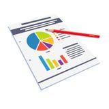 统计数字与图表的纸摘要 库存照片