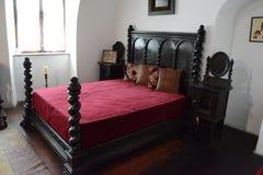 计数德雷库拉城堡室-卧室 库存照片