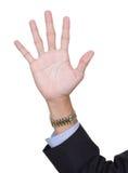 计数手指五编号 免版税库存照片