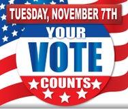 计数投票您 库存图片
