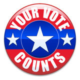计数投票您 库存照片