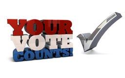 计数投票您 免版税库存照片