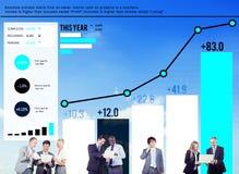 统计数据分析财务成功概念 免版税库存照片