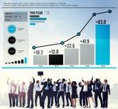 统计数据分析财务成功概念 免版税库存图片