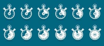 计数时间的秒表 向量例证