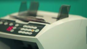 计数机器在不运作的银行中 股票录像