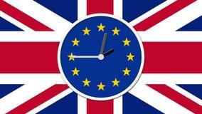 计数生气蓬勃的时钟下来 Brexit英国欧盟公民投票概念 皇族释放例证