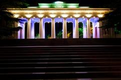 计数码头在塞瓦斯托波尔在晚上 免版税库存图片