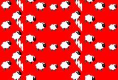 计数绵羊墙纸 免版税库存照片
