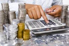 计数货币 免版税库存照片