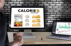 计数逆应用医疗吃的卡路里健康死 库存照片