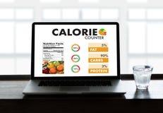 计数逆应用医疗吃的卡路里健康死 图库摄影