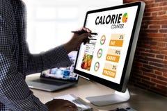 计数逆应用医疗吃的卡路里健康死 免版税库存照片