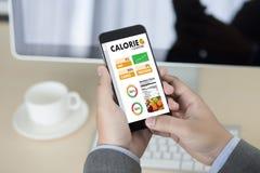 计数逆应用医疗吃的卡路里健康死 免版税库存图片