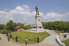计数Muraviev-Amursky的纪念碑 免版税库存照片