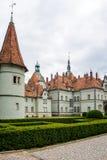 计数Schonborn狩猎城堡在Carpaty 从前- Beregvar村庄, Zakarpattja地区,乌克兰 在1890年修造 免版税图库摄影