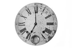 计时围绕葡萄酒形象罗马新年时间老时钟被隔绝的白色手表钟表黑色 免版税图库摄影