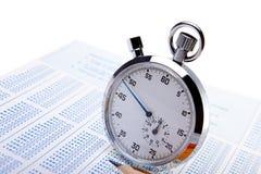 计时的测试 免版税库存图片