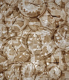 计时钟表机构去的时间 库存图片