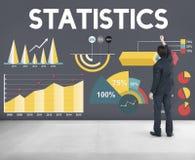 统计百分比企业图概念 免版税库存照片