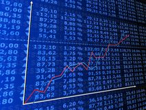 计算上升的股票 库存图片
