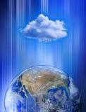 计算全球网络的云彩 库存图片