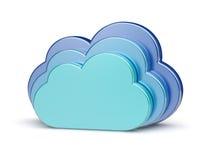 计算创造性的概念的云彩 免版税库存图片