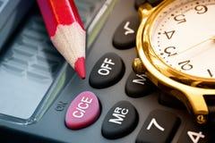 计算利润 免版税图库摄影